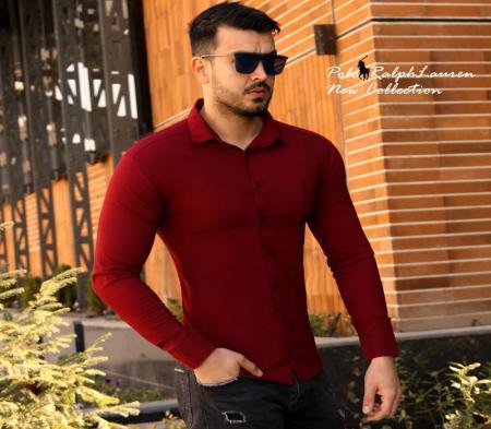 پیراهن مردانه Polo (زرشکی)