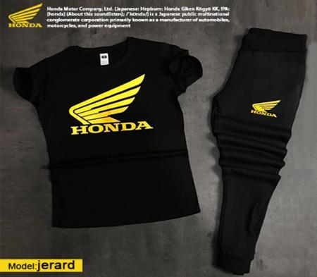 ست تیشرت وشلوار مردانه Honda مدل Jerard(زرد)