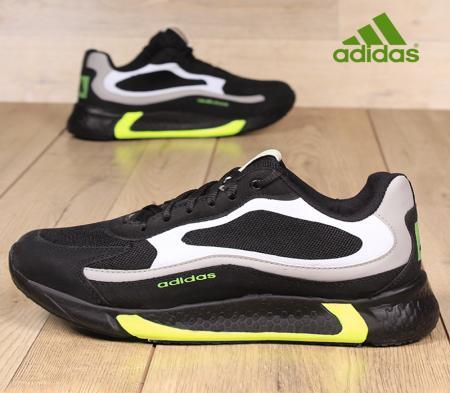 کفش مردانه adidasمدلukabed( مشکی سبز)
